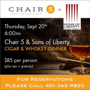 Sons of Liberty Whiskey Dinner