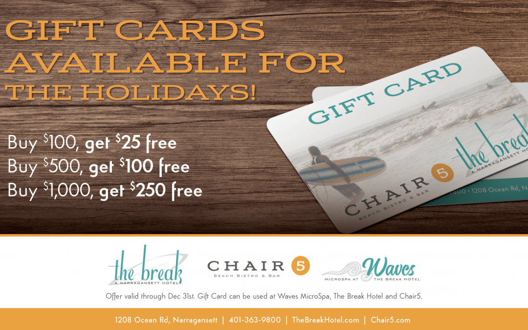 Gift Card Deals Now Through Dec. 31st!