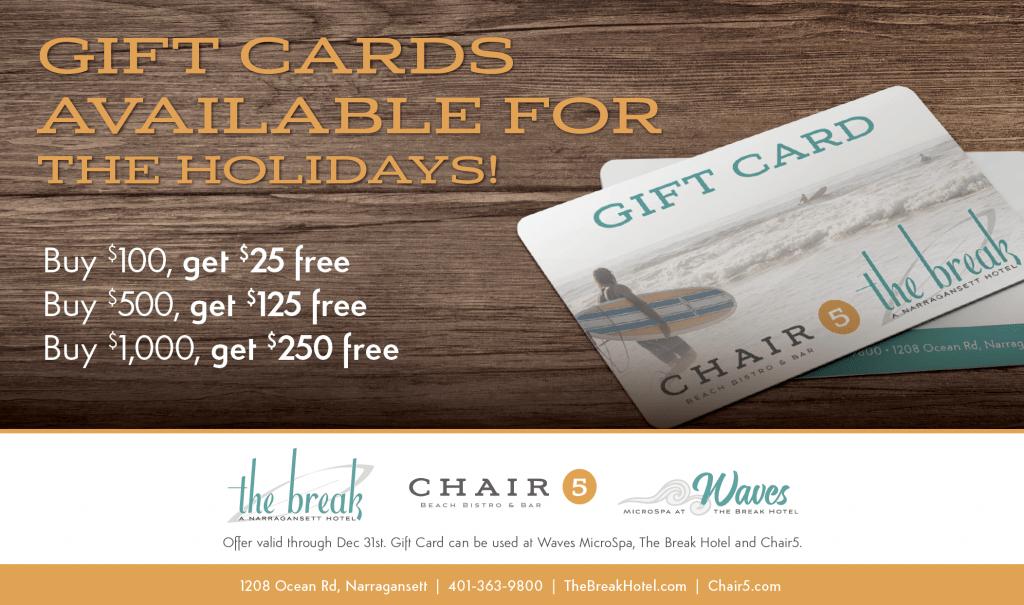 Gift Card The Break Hotel Chair 5 Narragansett