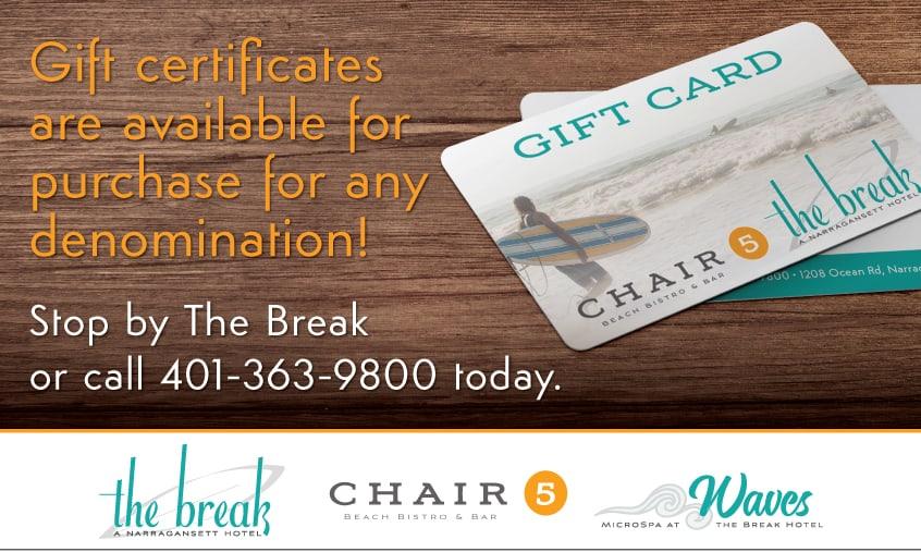 Gift Card The Break Chair 5